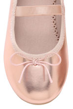 Ballet pumps with strap - Rose gold - Kids | H&M 5
