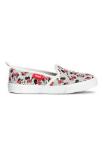 Slip-on trainers - Grey marl/Minnie Mouse - Kids | H&M CN 2