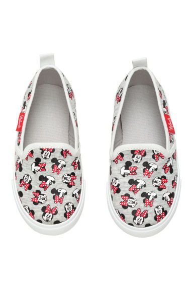 Slip-on trainers - Grey marl/Minnie Mouse - Kids | H&M CN 1