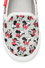 Slip-on trainers - Grey marl/Minnie Mouse - Kids | H&M CN 4