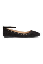 Ballet pumps with ankle strap - Black - Kids | H&M CN 2