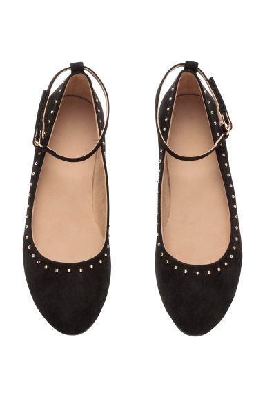 Ballet pumps with ankle strap - Black - Kids | H&M CN 1