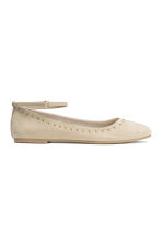Ballet pumps with ankle strap - Light beige -  | H&M CN 2