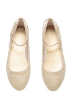 Ballet pumps with ankle strap - Light beige -  | H&M CN 1