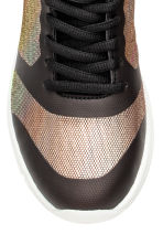 Mesh trainers - Black/Metallic - Kids | H&M CN 3