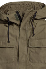 Parka with a hood - Khaki green - Men | H&M CN 3