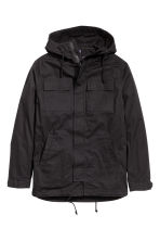 Parka with a hood - Black - Men | H&M CN 2