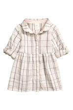 Shirt dress - Light beige/Checked - Kids | H&M CN 1