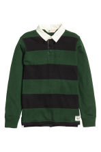 Rugby shirt - Dark green/Striped - Kids | H&M CN 2
