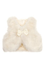 Faux fur waistcoat - Natural white - Kids | H&M CN 1