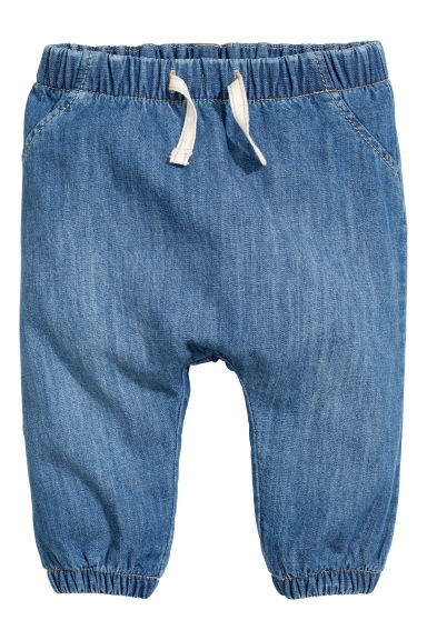 Lined pull-on trousers - Denim blue - Kids | H&M CN 1