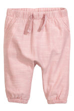 Lined pull-on trousers - Dusky pink - Kids | H&M CN 1