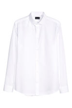 Premium cotton shirt - White - Men | H&M 2
