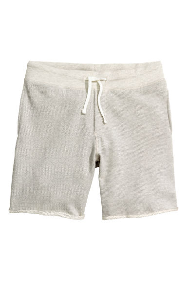 Sweatshirt shorts - Natural white - Men | H&M CN 1