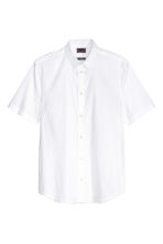 Short-sleeved stretch shirt - White -  | H&M CN 2