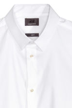 Short-sleeved stretch shirt - White -  | H&M CN 5