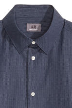 Camicia in cotone premium - Blu scuro/pois - UOMO | H&M IT 3