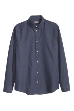Camicia in cotone premium - Blu scuro/pois - UOMO | H&M IT 2