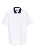 Shirt in premium cotton - White - Men | H&M CN 2