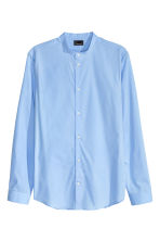 Shirt in premium cotton - Light blue - Men | H&M CN 2