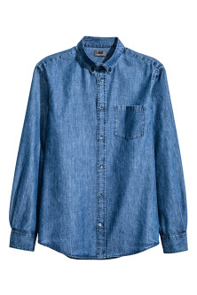 Denim shirt in premium cotton