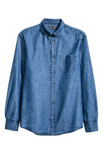 Denim shirt in premium cotton - Denim blue - Men | H&M CN 2
