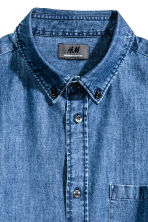 Denim shirt in premium cotton - Denim blue - Men | H&M CN 3