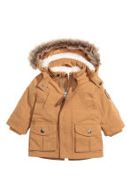 Parka with a hood - Camel -  | H&M CN 1