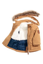 Parka with a hood - Camel -  | H&M CN 2