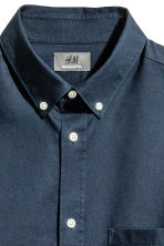 Premium cotton Oxford shirt - Dark blue - Men | H&M CN 3