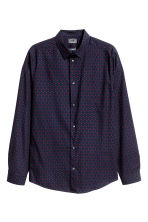 Premium cotton shirt - Dark blue/Burgundy - Men | H&M CN 2