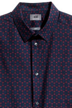 Premium cotton shirt - Dark blue/Burgundy - Men | H&M CN 3