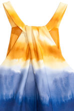Abito con scollo all'americana - Blu scuro/giallo - DONNA | H&M IT 4