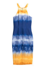 Halterneck dress - Dark blue/Yellow - Ladies | H&M CN 3