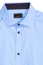Premium cotton shirt - Light blue - Men | H&M CN 3