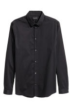 Stretch shirt Slim fit - Black - Men | H&M CN 2