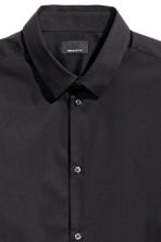 Stretch shirt Slim fit - Black - Men | H&M 4