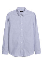 Shirt in premium cotton - Blue - Men | H&M CN 2