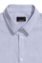 Shirt in premium cotton - Blue - Men | H&M CN 3