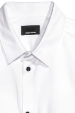 Premium cotton shirt - White - Men | H&M CN 3