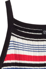 Ribbed top - Red/Striped - Ladies | H&M CN 3