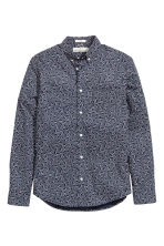 Cotton shirt - Dark blue/Patterned - Men | H&M CN 2