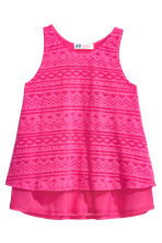 Burnout-patterned top - Cerise - Kids | H&M CN 2
