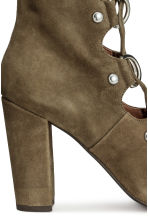 Suede boots - Khaki green - Ladies | H&M CN 4