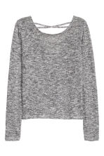 Fine-knit top - Black/White marl - Ladies | H&M CN 2