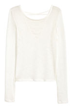 Fine-knit top - Natural white - Ladies | H&M CN 2