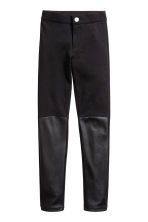 Treggings - Black/Imitation leather - Kids | H&M CN 2