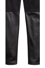 Treggings - Black/Imitation leather - Kids | H&M CN 4