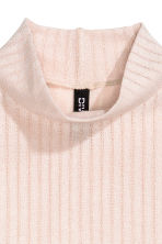 Turtleneck top - Powder pink - Ladies | H&M CN 3