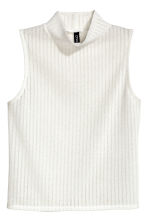 Turtleneck top - Natural white - Ladies | H&M CN 2